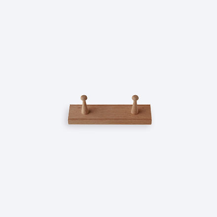 Shaker Peg Rail Oak 2 Peg