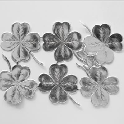 Silver Deco Paper Clover
