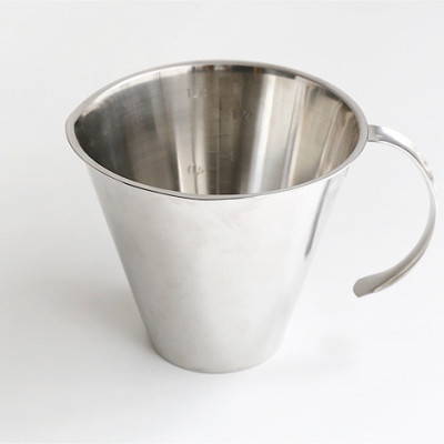 Measuring jug w/o foot, open handle 1.0l