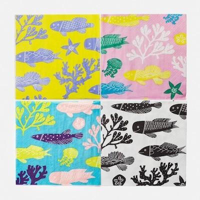 Paper Napkin AKVAARIO color