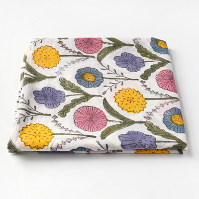 Woodblock Print Handkerchief Color