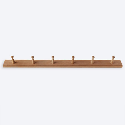 Shaker Peg Rail Oak 6 Peg