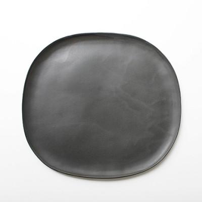 Stoneware Oval Plate 28cm - slate grey