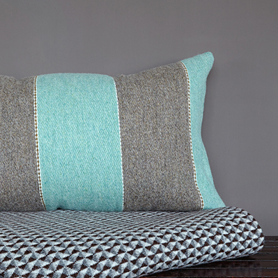 Duck Egg Stripe cushion cover 40x60