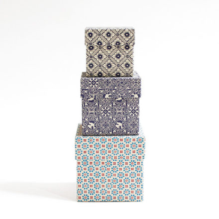 SQUAREBOX SET geometric pattern