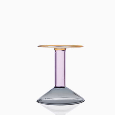 RAINBOW Candleholder. PM  grey/pink/amber