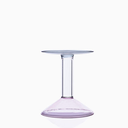 RAINBOW Candleholder. PM  pink/clear/grey