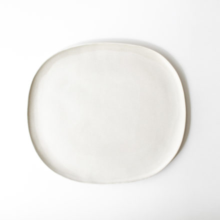 Stoneware Oval Plate 28cm - powder white