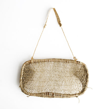 Handwoven Tree Bark Basket Long