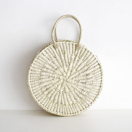Handwoven Redonda Palm Bag L