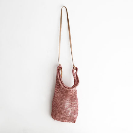 Large Weave Maguey Mesh Bag - pink