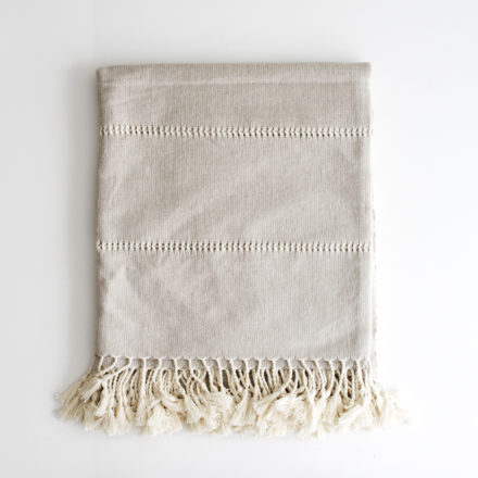 Handwoven Cotton Throw - natural