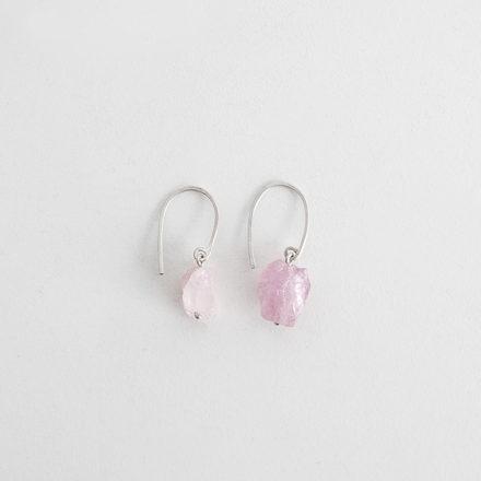 Rough Tourmaline Nuggets Earrings