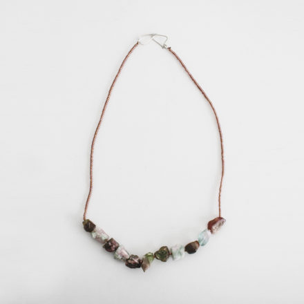 Rough Tourmaline Nuggets Necklace