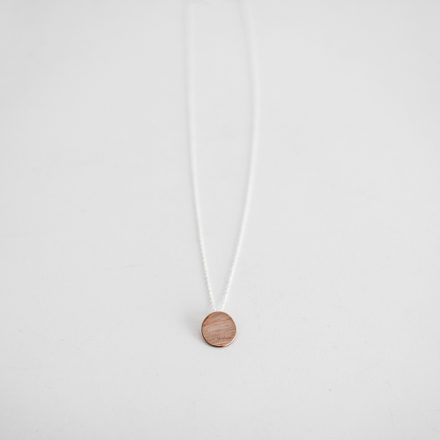 Copper Hammered Disc Necklace
