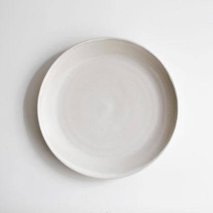 Stoneware Plate Round 22cm - cream
