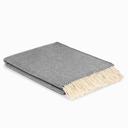 Pure Wool Blanket - charcoal