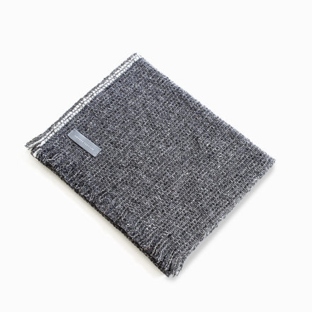[outlet] Tweed Emphasize Scarf On the Road - Double White
