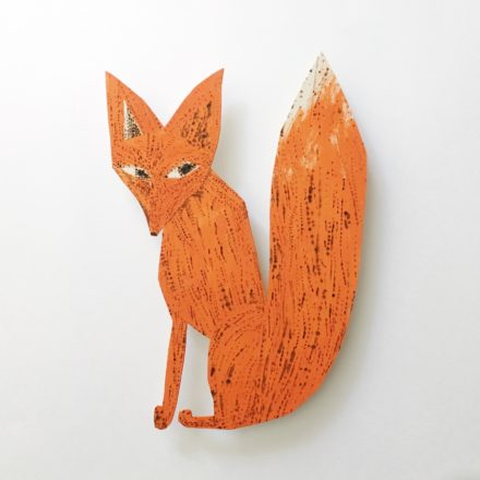 Wall Piece / Red Fox [#33]