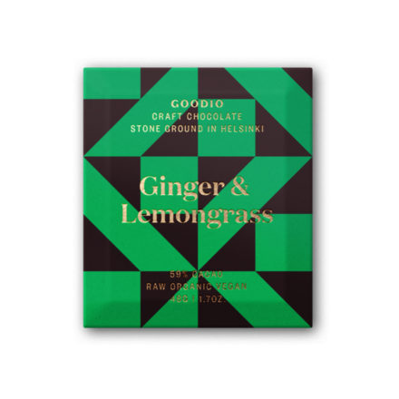 Ginger & Lemonglass organic raw chocolate