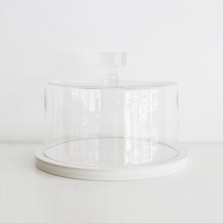 Classical Platform 28cm<br>+ Glass Dome 26.5cm