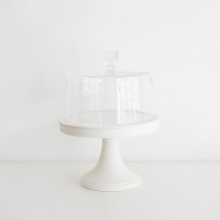 Classical Cake Stand 21cm<br>+ Glass Dome 19.5cm