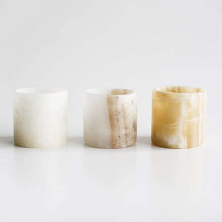 Handmade Onyx Tea Light Holders