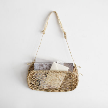 Mini Nenes Handwoven Tree Bark Hanging Basket