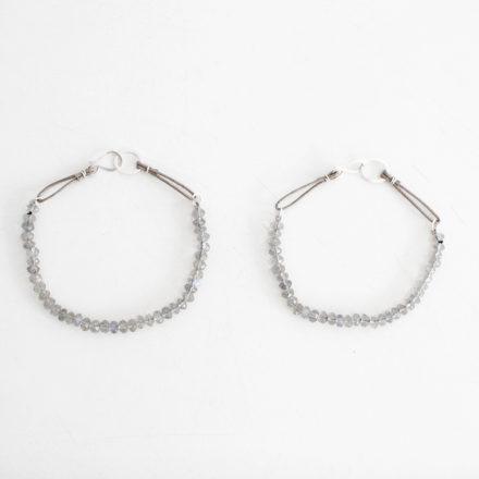 Labradorite Bracelet beige cord