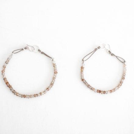 Copper Rutilated Quartz Bracelet beige cord