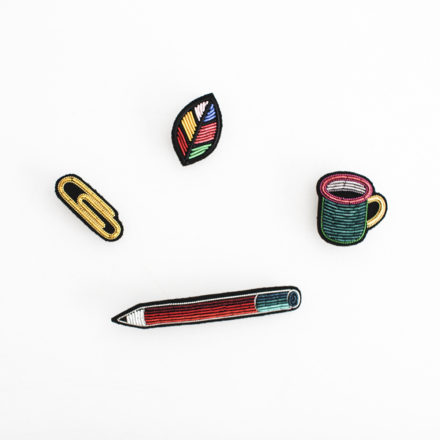 Hand Embroidered Brooch - E