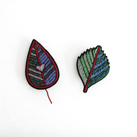 Hand Embroidered Brooch - H