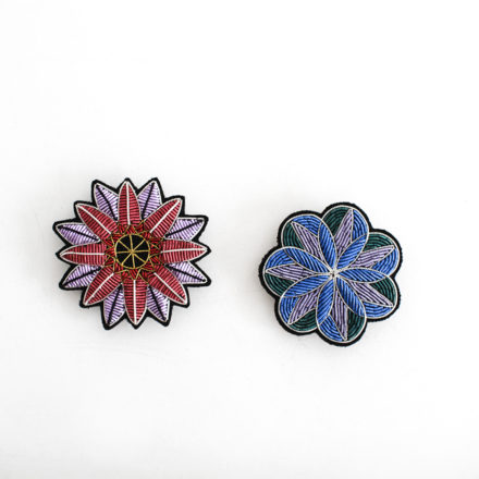 Hand Embroidered Brooch - I