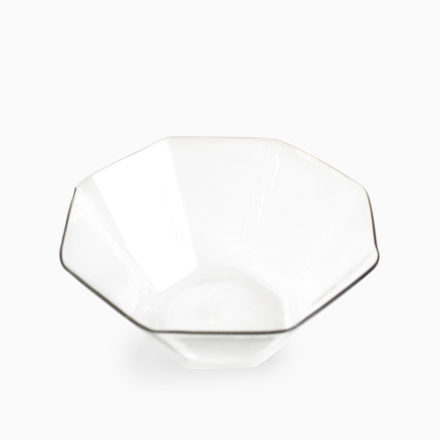 八角小鉢 - グレー