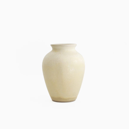 Stoneware Flower Vase h12cm - crystallized flax yellow