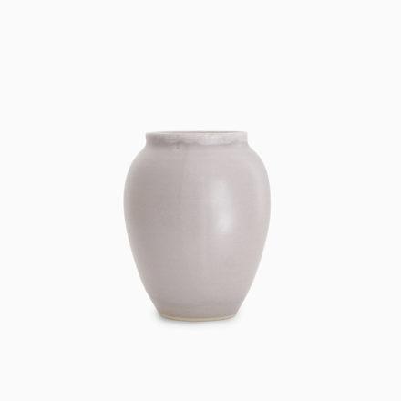 Stoneware Flower Vase h12cm - grey tourterelle