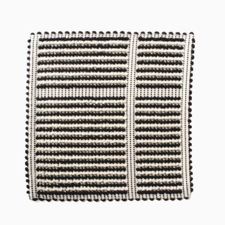[受注生産] SEAT COVER<br>- COPRISEDIA DIVISO UNO UNO 35 x 35cm<br>- BLACK/CREAM/BLACK(2枚セット)