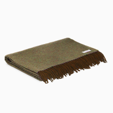Supersoft Lambswool Shawl - turf