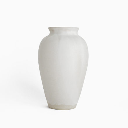 Stoneware Flower Vase h18cm - powder white
