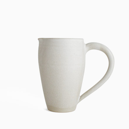 Stoneware Pitcher h14cm - powder white