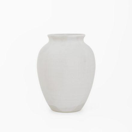 Stoneware Flower Vase h16cm - powder white