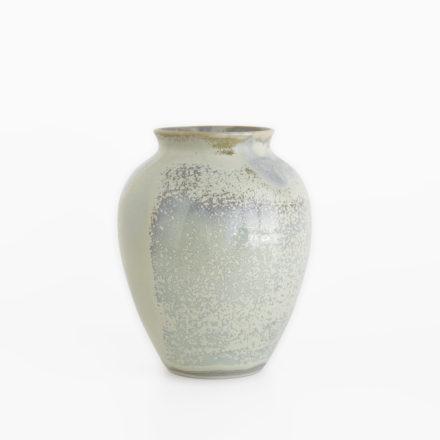 Stoneware Flower Vase h16cm - double glazed grey-green