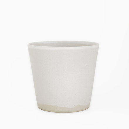 Stoneware Flower Vase φ15 x h13cm - powder white